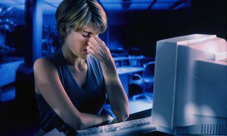 techno stress I wasn't familiar with the term technostress (apparently coined by the authors of  a 1997 book, technostress: coping with technology @work @home @play),.
